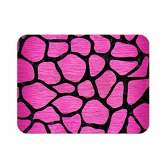 Skin1 Black Marble & Pink Brushed Metal (r) Double Sided Flano Blanket (mini)  by trendistuff