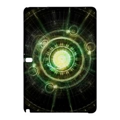 Green Chaos Clock, Steampunk Alchemy Fractal Mandala Samsung Galaxy Tab Pro 10 1 Hardshell Case by beautifulfractals