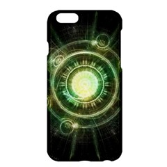 Green Chaos Clock, Steampunk Alchemy Fractal Mandala Apple Iphone 6 Plus/6s Plus Hardshell Case by jayaprime