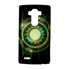 Green Chaos Clock, Steampunk Alchemy Fractal Mandala Lg G4 Hardshell Case by beautifulfractals