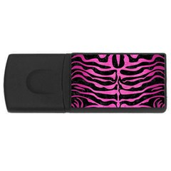 Skin2 Black Marble & Pink Brushed Metal (r) Rectangular Usb Flash Drive by trendistuff