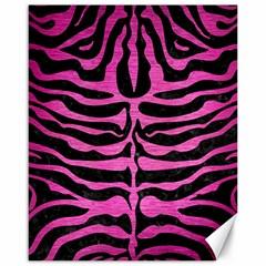 Skin2 Black Marble & Pink Brushed Metal (r) Canvas 16  X 20   by trendistuff
