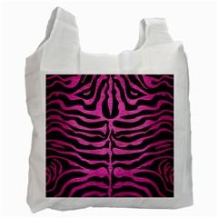 Skin2 Black Marble & Pink Brushed Metal (r) Recycle Bag (one Side) by trendistuff