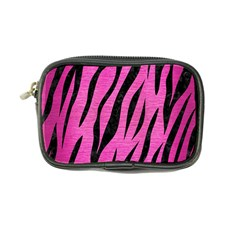 Skin3 Black Marble & Pink Brushed Metal Coin Purse by trendistuff