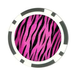 Skin3 Black Marble & Pink Brushed Metal Poker Chip Card Guard (10 Pack) by trendistuff