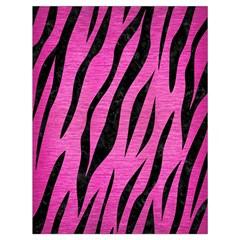 Skin3 Black Marble & Pink Brushed Metal Drawstring Bag (large) by trendistuff