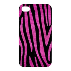 Skin4 Black Marble & Pink Brushed Metal Apple Iphone 4/4s Premium Hardshell Case by trendistuff