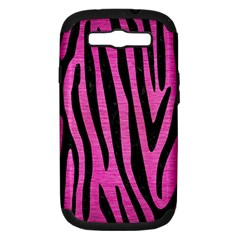 Skin4 Black Marble & Pink Brushed Metal (r) Samsung Galaxy S Iii Hardshell Case (pc+silicone) by trendistuff
