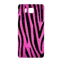 Skin4 Black Marble & Pink Brushed Metal (r) Samsung Galaxy Alpha Hardshell Back Case by trendistuff