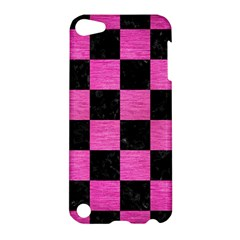 Square1 Black Marble & Pink Brushed Metal Apple Ipod Touch 5 Hardshell Case by trendistuff