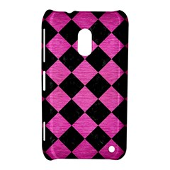 Square2 Black Marble & Pink Brushed Metal Nokia Lumia 620 by trendistuff