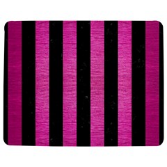 Stripes1 Black Marble & Pink Brushed Metal Jigsaw Puzzle Photo Stand (rectangular) by trendistuff