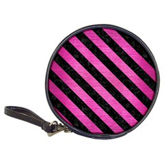 Stripes3 Black Marble & Pink Brushed Metal Classic 20 Cd Wallets by trendistuff