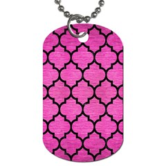 Tile1 Black Marble & Pink Brushed Metal Dog Tag (one Side) by trendistuff