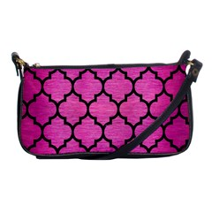 Tile1 Black Marble & Pink Brushed Metal Shoulder Clutch Bags by trendistuff