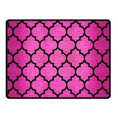 Tile1 Black Marble & Pink Brushed Metal Double Sided Fleece Blanket (small)  by trendistuff