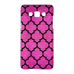 Tile1 Black Marble & Pink Brushed Metal Samsung Galaxy A5 Hardshell Case  by trendistuff