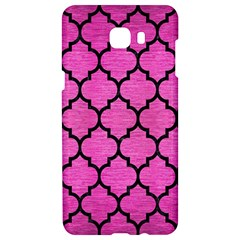 Tile1 Black Marble & Pink Brushed Metal Samsung C9 Pro Hardshell Case  by trendistuff