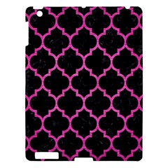 Tile1 Black Marble & Pink Brushed Metal (r) Apple Ipad 3/4 Hardshell Case by trendistuff