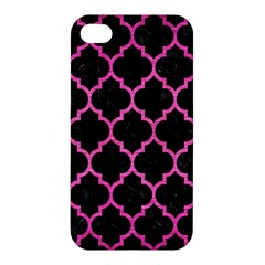Tile1 Black Marble & Pink Brushed Metal (r) Apple Iphone 4/4s Premium Hardshell Case by trendistuff