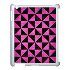 Triangle1 Black Marble & Pink Brushed Metal Apple Ipad 3/4 Case (white) by trendistuff