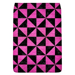 Triangle1 Black Marble & Pink Brushed Metal Flap Covers (s)  by trendistuff