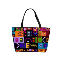 Abstract A Colorful Modern Illustration Shoulder Handbags by Celenk
