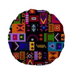 Abstract A Colorful Modern Illustration Standard 15  Premium Round Cushions by Celenk