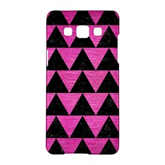 Triangle2 Black Marble & Pink Brushed Metal Samsung Galaxy A5 Hardshell Case  by trendistuff