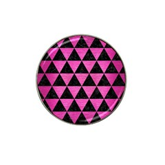 Triangle3 Black Marble & Pink Brushed Metal Hat Clip Ball Marker (4 Pack) by trendistuff