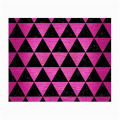 Triangle3 Black Marble & Pink Brushed Metal Small Glasses Cloth (2 Side) by trendistuff