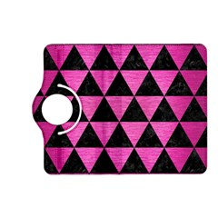 Triangle3 Black Marble & Pink Brushed Metal Kindle Fire Hd (2013) Flip 360 Case by trendistuff