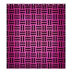 Woven1 Black Marble & Pink Brushed Metal Shower Curtain 66  X 72  (large)  by trendistuff