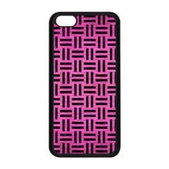 Woven1 Black Marble & Pink Brushed Metal Apple Iphone 5c Seamless Case (black) by trendistuff