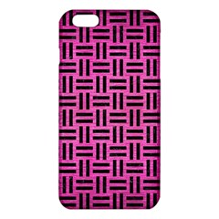 Woven1 Black Marble & Pink Brushed Metal Iphone 6 Plus/6s Plus Tpu Case by trendistuff