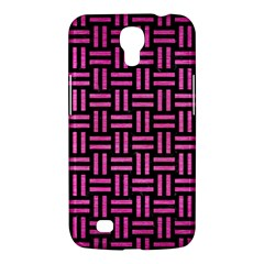 Woven1 Black Marble & Pink Brushed Metal (r) Samsung Galaxy Mega 6 3  I9200 Hardshell Case by trendistuff