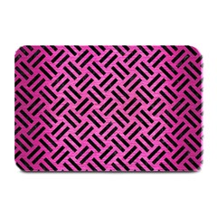 Woven2 Black Marble & Pink Brushed Metal Plate Mats by trendistuff