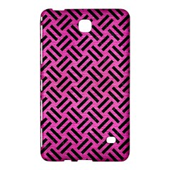 Woven2 Black Marble & Pink Brushed Metal Samsung Galaxy Tab 4 (8 ) Hardshell Case  by trendistuff
