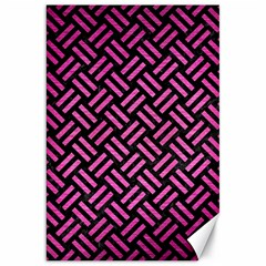 Woven2 Black Marble & Pink Brushed Metal (r) Canvas 20  X 30   by trendistuff