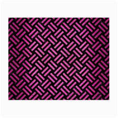 Woven2 Black Marble & Pink Brushed Metal (r) Small Glasses Cloth (2 Side) by trendistuff