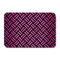 Woven2 Black Marble & Pink Brushed Metal (r) Plate Mats by trendistuff