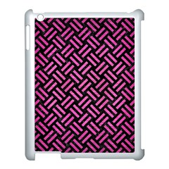 Woven2 Black Marble & Pink Brushed Metal (r) Apple Ipad 3/4 Case (white) by trendistuff