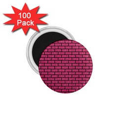 Brick1 Black Marble & Pink Denim 1 75  Magnets (100 Pack)  by trendistuff