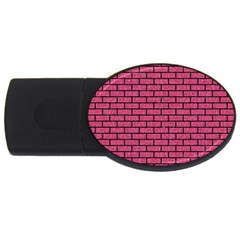 Brick1 Black Marble & Pink Denim Usb Flash Drive Oval (4 Gb) by trendistuff