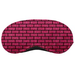 Brick1 Black Marble & Pink Denim Sleeping Masks by trendistuff