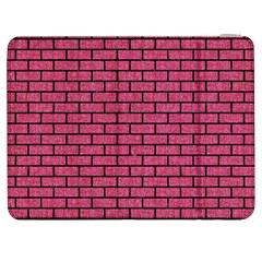 Brick1 Black Marble & Pink Denim Samsung Galaxy Tab 7  P1000 Flip Case by trendistuff