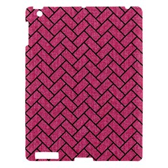 Brick2 Black Marble & Pink Denim Apple Ipad 3/4 Hardshell Case by trendistuff