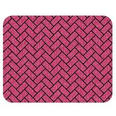 Brick2 Black Marble & Pink Denim Double Sided Flano Blanket (medium)  by trendistuff
