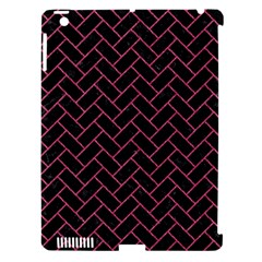 Brick2 Black Marble & Pink Denim (r) Apple Ipad 3/4 Hardshell Case (compatible With Smart Cover) by trendistuff