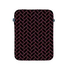 Brick2 Black Marble & Pink Denim (r) Apple Ipad 2/3/4 Protective Soft Cases by trendistuff